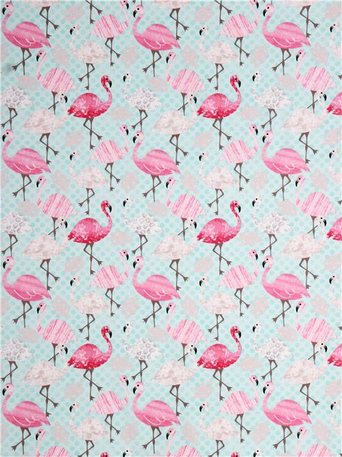 turquoise-flamingo-leaf-animal-fabric-Timeless-Treasures-USA-196971-3